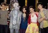 Jake, hailey, selena, david and jennifer behind the scenes the bad and the alex