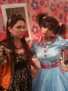 Jennifer and selena behind the scenes doll house
