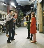 Behind the scenes jennifer, david, selena and david helping hand