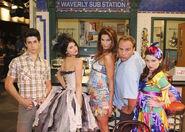 David, selena, cindy, david and jennifer behind the scenes fashion week