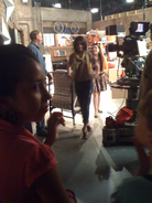 Doll house behind the scenes