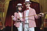 Selena and david behind the scenes Wizards vs. Finkles