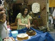 Season 3 behind the scenes selena with cake