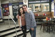 Selena and the director behind the scenes Wizards Unleashed