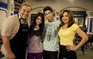 Selena, maria, david h. and david d. beware wolf behind the scenes