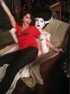 Jennifer and selena halloween behind the scenes