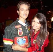 Selena and daniel behind the scenes racing