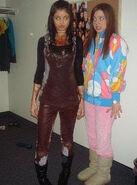 Selena and jennifer behind the scenes chocolate