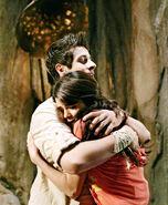Alex and justin hug