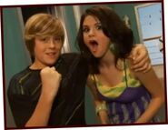 Dylan and selena casta away to another show behind the scenes