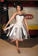 Selena gomez in white behind the scenes fashion week