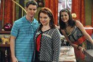 Selena, jennifer and dan behind the scenes zeke finds out