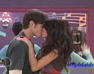 Alex and Dean kissing