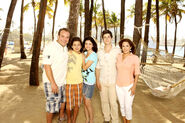 Russo's family in the beach