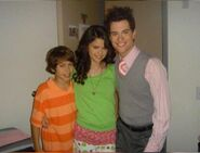 Selena, jake and jeffery behind the scenes credit check
