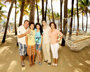 Russo's family in the beach 2