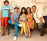 Russo's family for the movie