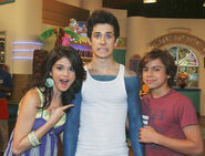 Selena, david and jake on zack and cody on deck