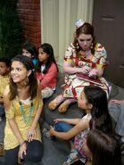 Harperella behind the scenes selena and jennifer with kids