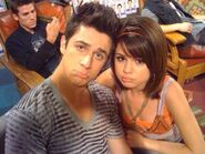 Selena and david behind the scenes detention