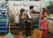 Justin, alex and harper cast away to another show