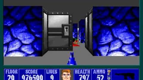 Spear Of Destiny 3 - Ultimate Challange - Floor 14 (Lower Bunker Area Secret) Part 2