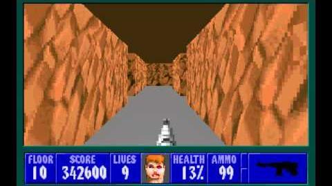 Wolfenstein 3D (id Software) (1992) Episode 4 - A Dark Secret - Floor 10 HD
