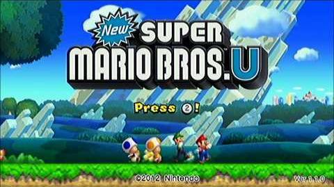 New Super Mario Bros. U Titlescreen Easter-egg.