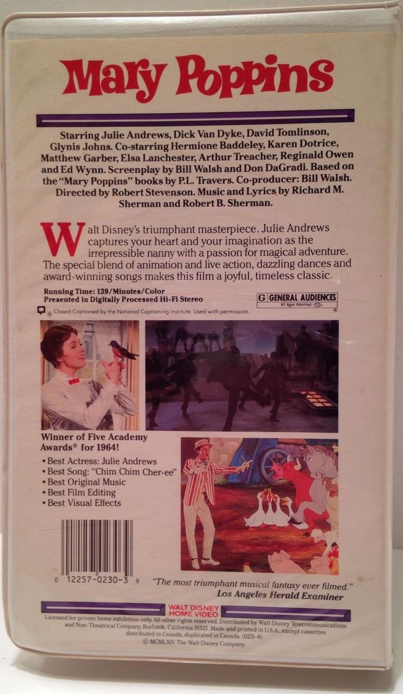 Mary Poppins (1985-1996 VHS)