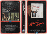 Midnight Express 1979 VHS (1980 Reprint) Cover
