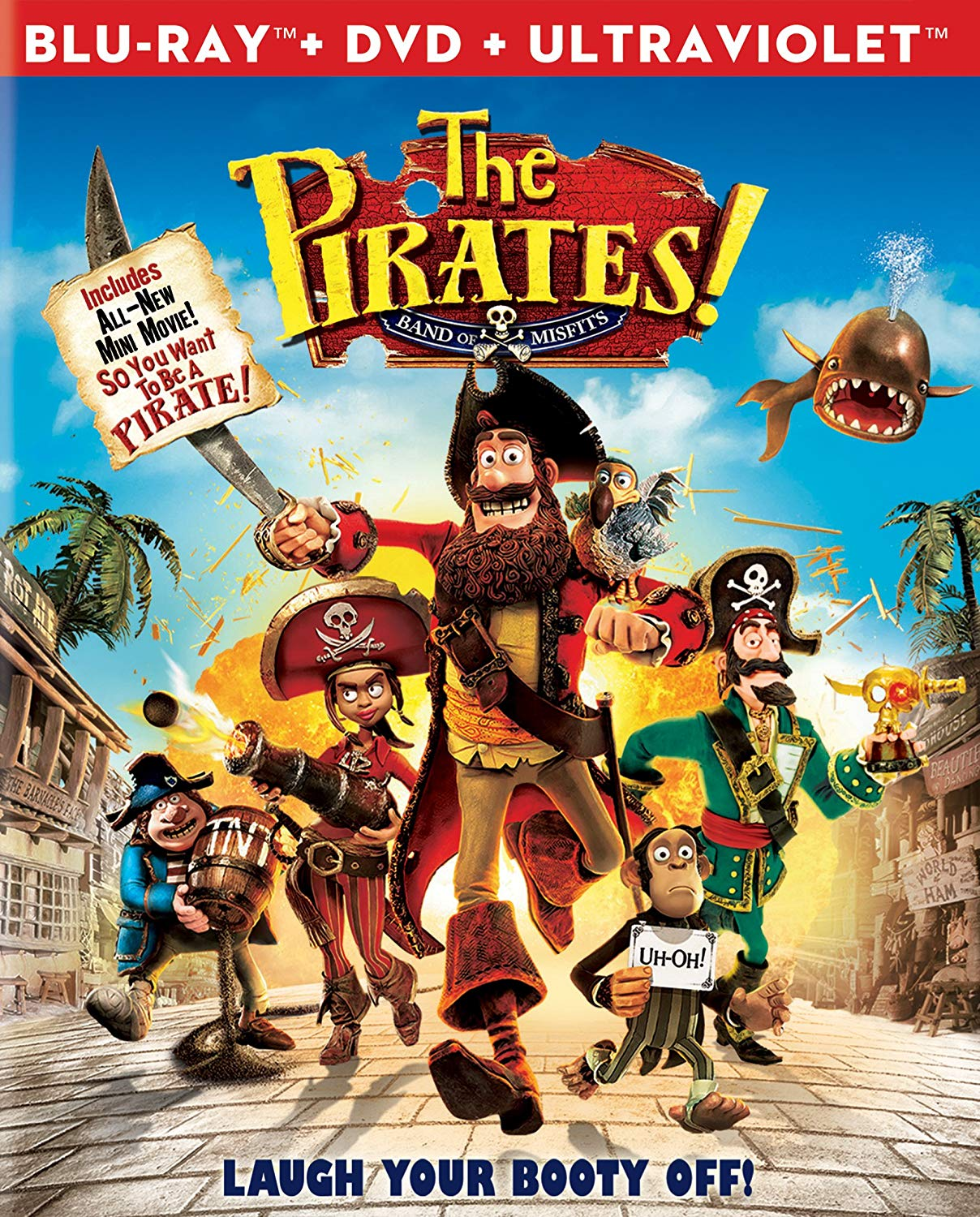 The Pirates! Band of Misfits (Blu-ray/DVD)
