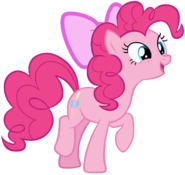 Pinkie Pie hopping with ecstatic joy