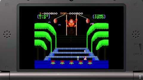 Donkey Kong 3 3DS VC trailer
