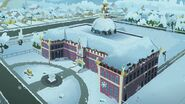 Holidays Unwrapped - Canterlot High School covered in snow