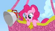 Pinkie Pie in her balloon S1E13