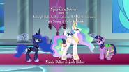 Princess Celestia explains the situation S9E4