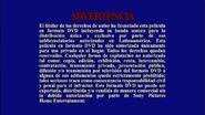 Sony R4 Warning Screen Spanish