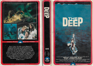 The Deep VHS Cover (1980 Red Border Clamshell Printing)