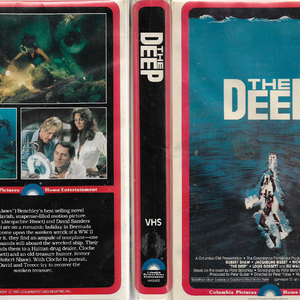 The Deep VHS Cover (1980 Red Border Clamshell Printing).png
