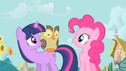Pinkie Pie is enamored with Owlowiscious S1E24