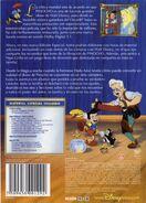 Pinocchio DVD Back Cover (Spanish)