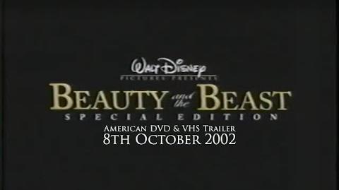 Beauty and the Beast Platinum Edition Rare Trailer (2002 VHS DVD, USA)