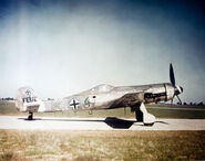 Focke Wulf Ta-152 'Green 4' of ace Walter Loos captured by British forces