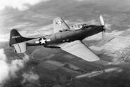 Fisher XP-75-GM In flight (SN 43-46950, 1st aircraft built) 061024-F-1234P-043