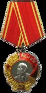 Order of Lenin badge with ribbon
