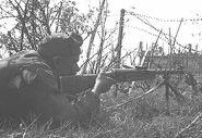 Bulgarian soldier firing ZK-383
