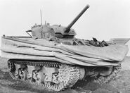 Sherman DD with floatation screen lowered, 1944