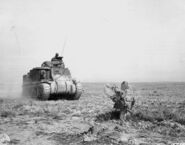 M3 Lee medium tank of the 1st US Armored Division during the Battle of Kasserine Pass