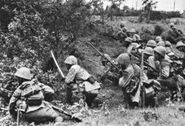 SNLF troops fighting in the Dutch East Indies, 1942