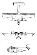 PB2Y-5 Coronado 3-view